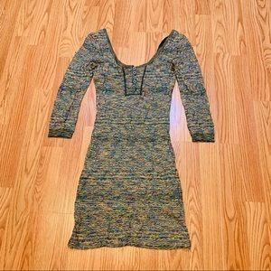 FREE PEOPLE Multi Color Knit Dress Size XS
